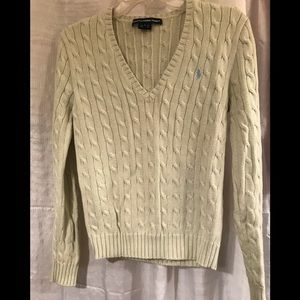 Ralph Lauren V-Neck mint colored sweater